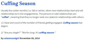 cuffing season meaning